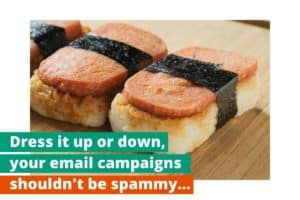Dress it up or down your email campaign services shouldn't be spammy.